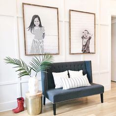 My favorite display so far, of our largest size wood photo prints! These are an inch shy of 4 feet tall and 3 feet wide. Unique Family Photos, Display Family Photos, Family Pictures, Black And White Photo Wall, Sitting Room Decor, Picture Frame Decor, Living Room Photos, Photo On Wood, Wall Decor