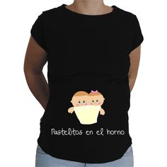 Camiseta para embarazada Divertida - Pastelitos en el horno.