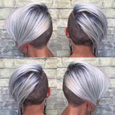 "Formula: Cool, Crisp Blonde – Hair Color ""My client happened to also be my personal trainer, and she is one of my muses… The post Formula: Cool, Crisp Blonde – Hair Color appeared first on Do It Yourself Diyjewel. Funky Blonde Hair, Perfect Blonde Hair, Silver Blonde Hair, Platinum Blonde Hair, Short Blonde, Blonde Color, Blonde Undercut Pixie, Short Hair Cuts For Women, Short Hair Styles"