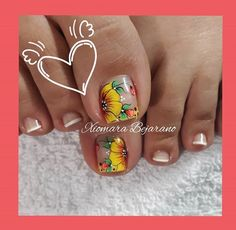 Flower Nail Designs, Toe Nail Designs, Spirit Finger, Flower Nails, Manicure And Pedicure, Toe Nails, Girly Things, Lily, Nail Art