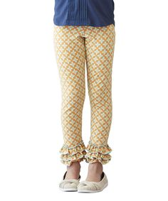 Look at this Matilda Jane Clothing Yellow Sunburst Ruffle Leggings - Infant & Girls on #zulily today!