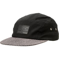826a6c26c019e The Empyre Fine Shrine 5 panel hat an all black hat with a trimmed down fit