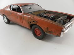1971 Dodge Charger 1/24 scale model car in orange by classicwrecks, $67.50