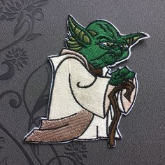 Star Wars Master Yoda Patch Iron on patch Iron on Applique Sport hat patch bag patch Embroidered sew on patches