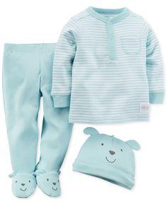 Carter\'s Baby Boys\' 3-Piece Dog Hat, Tee & Pants Set