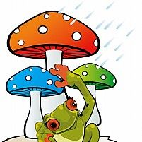 Free Mushroom and toad Illustration