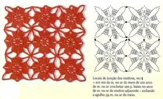 The square motif crochet - knitting scheme