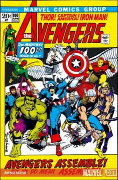 """""""Avengers Assemble"""" for Avengers #100 - Cover by Barry Windsor Smith"""