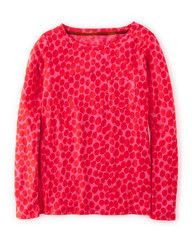 Animal print top (Mid Pink Abstract Leopard), Boden