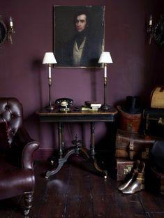 prune couleur pour les murs dans le salon