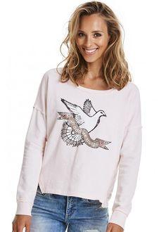 Sweatshirt rosa print 217M-416 Lounging Around Sweater - soft candy