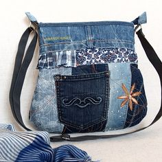 ELEANORKA middle no. 88 Eleanor Rigby, Drawstring Backpack, Gym Bag, Jeans, Backpacks, Middle, Zip, Purses, Sewing