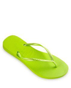 LOVE these #neon green havianas $26