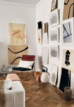 This beautiful gallery wall is always changing with new artworks.