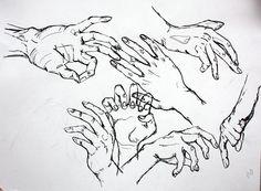 hands. figure sketch (pen) ~celeste
