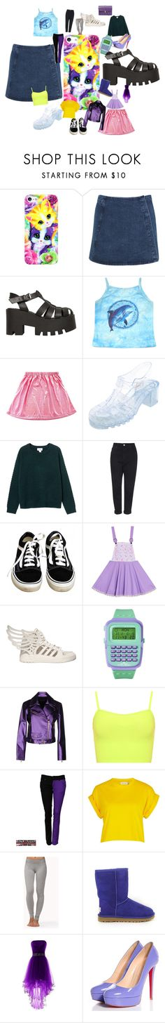 """Untitled #5666"" by brittklein ❤ liked on Polyvore featuring Lisa Frank, Miss Selfridge, Windsor Smith, Charlotte Russe, Monki, Topshop, Vans, adidas, Xhilaration and WearAll"
