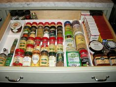spice drawer instead of cupboard