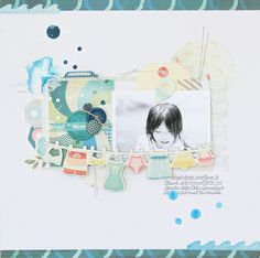Layout inspiration from The Pier collection. #papercrafts #scrapbooking #inspiration