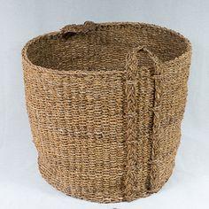 Round Seagrass Log Basket 1