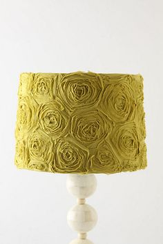 Ranunculus Swirl Shade #anthropologie  i like this shade cause it would go well with a cheap white lamp from target...and still add a good splash of color