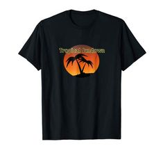 Tropical Sundown T-Shirt Cool Tee Shirts, Cool Tees, T Shirt, Tropical, Cool Stuff, Mens Tops, Fashion, Fashion Styles, Supreme T Shirt