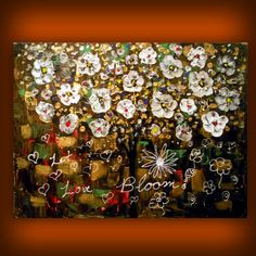 palette knife painting floral flower painting textured by mattsart, $189.00