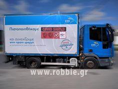 Truckskinz – ΕΛΤΑ (www.elta.gr) Τα ΕΛΤΑ επέλεξαν την εταιρεία μας για τη κατασκευή, τοποθέτηση του συστήματος Truckskinz στα φορτηγά της καθώς και την εκτύπωση και τοποθέτηση του προωθητικού μηνύματος τους. Τα Ελληνικά Ταχυδρομεία (ΕΛΤΑ) αποτελούν έναν Όμιλο Επιχειρήσεων, πα� Trucks, Truck