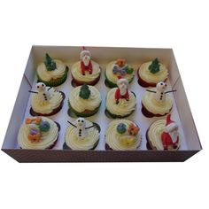 <b>Xmas Cupcakes</b><br/>Assorted Christmas cupcakes from £3 each