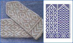 Knitting Charts, Knitting Stitches, Hand Knitting, Knitting Patterns, Knitted Mittens Pattern, Knit Mittens, Knitted Gloves, Crochet Chart, Knit Crochet