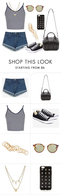"""Untitled #301"" by charlotte-down on Polyvore featuring Zara, Alexander Wang, Topshop, Converse, H&M, Yves Saint Laurent, Edge of Ember and J.Crew"