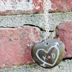Easy DIY tutorial for making your own carved rock necklace.