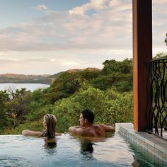 Brides.com: . Central and South America: Four Seasons Peninsula Papagayo, Costa Rica  Want adventure (zip lining, surfing, rain-forest hikes) but refuse to budge on thread count? This luxe 155-room Pacific-coast gem—with four pools and a sprawling spa offering volcanic mud wraps and coffee scrubs—will be your happy place. #Honeymoon