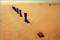 Lost on the Beach  golden brown sand black  8x12 by matthewbull, $30.00