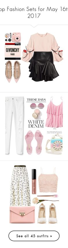 """Top Fashion Sets for May 16th, 2017"" by polyvore ❤ liked on Polyvore featuring Valentino, Roksanda, Alexander McQueen, Gucci, Givenchy, Fujifilm, Smashbox, Monki, TheBalm and Gap"