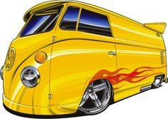◆ Visit ~ MACHINE Shop Café ◆ ◆ Krazy Kar Kartoons ~ Board ◆ (VW Drag Kombie by Bmart333)
