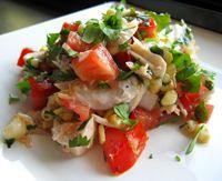 Striped Bass Salad with Summer Veggies
