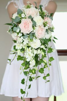Brides Shower Bouquet / Wedding Flowers Edinburgh - Liberty Blooms