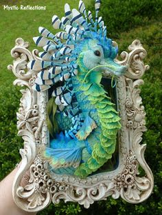 Mystic Reflections: She Sells Sea Dragons by the Sea Shore Garden Sculpture, Lion Sculpture, Sea Dragon, Polymer Clay Creations, Art Inspo, Toy Art, Mystic, Dragons, Outdoor Decor