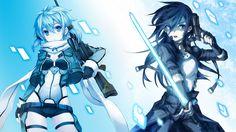 Sinon and Kirito - Gun Gale Online by Darc1n.deviantart.com on @deviantART