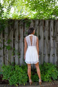 How beautiful are the lace details on this Lace Overlay Dress?!