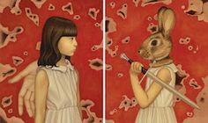 Bizarre paintings by Egene Koo.