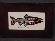 Salmon Plaque by Tsimshian Northwest Coast Native American Artist Roxana Leask | eBay