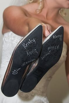 In Turkey, when a girl gets married, all her female friends write their names inside her bridal shoes. After the wedding ceremony, if someone's name has been rubbed off and can not be read anymore, it means this person is going to get married next.