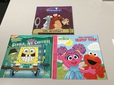 LOT OF 3 PICTURE BOOKS, RATATOUILLE OH BROTHER, RHYME TIME, SPONGEBOB,NE