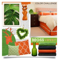 """Moss + Rust"" by tammara-d ❤ liked on Polyvore featuring interior, interiors, interior design, home, home decor, interior decorating, Balmain, Villeroy & Boch, Americanflat and Élitis"