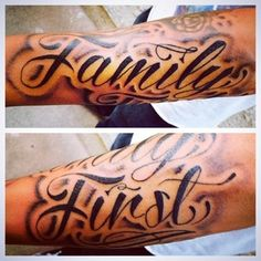 Family first tattoo paintings