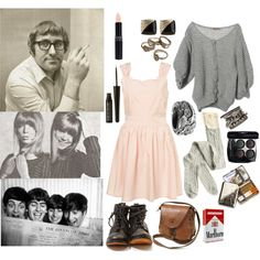 Do You Want To Know a Secret? (IWHYH) by applescruffs on Polyvore featuring moda, Aymara, Robert Geller, Ugo Cacciatori, Urban Outfitters, Chanel, MAKE UP FOR EVER, pattie boyd, mal evans and the beatles
