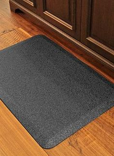 Efficiently prepare for your parties or dinners without fatiguing with the help of the WellnessMats® Granite Comfort Mat.