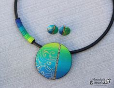 Handmade polymer clay jewelry sets (32)
