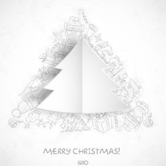 Vector - Merry Christmas Stylish Tree